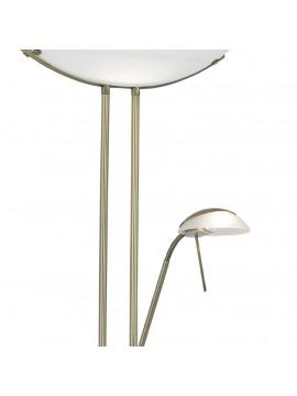 Flexible burnished classic floor lamp GLO 85974 Baya