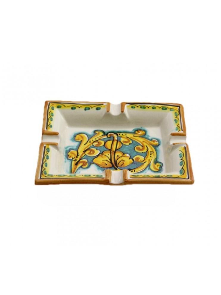 Sicilian ceramic ashtray art.27 dec. Gianluca