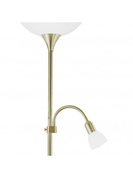 Flexible burnished classic floor lamp 2 lights GLO 82844 Up 2
