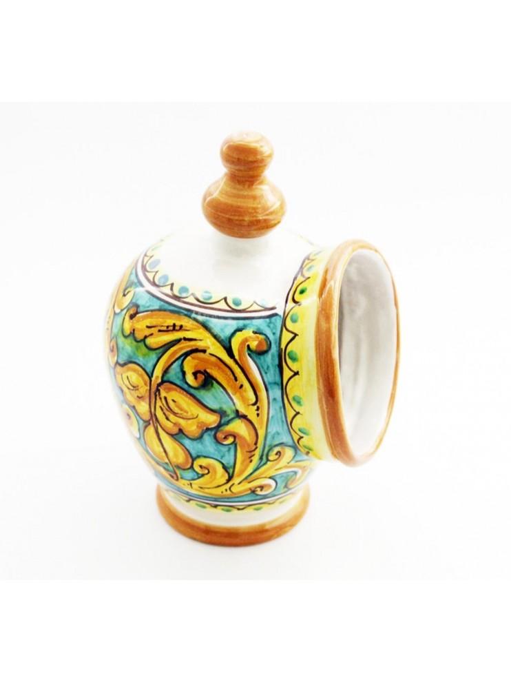 Sicilian ceramic salt cellar art.15 dec. Gianluca