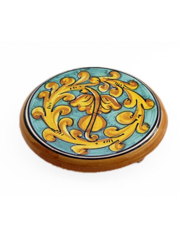 Sottopentola in ceramica siciliana art.19 dec. Gianluca