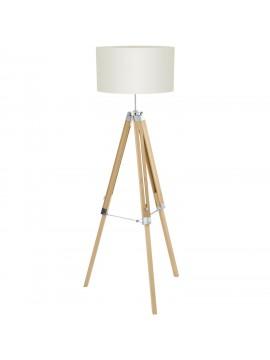 Piantana vintage 1 luce in legno con paralume GLO 94324 Lantada