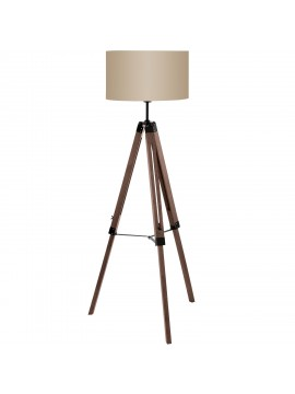 Piantana vintage 1 luce in legno con paralume GLO 94326 Lantada