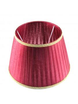 Paralume in organza rosso-bordeaux plisse D.25cm