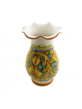 Vase worked in Sicilian ceramic art.16 dec. Gianluca