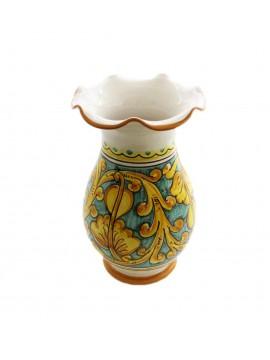 Vaso lavorato in ceramica siciliana art.16 dec. Gianluca