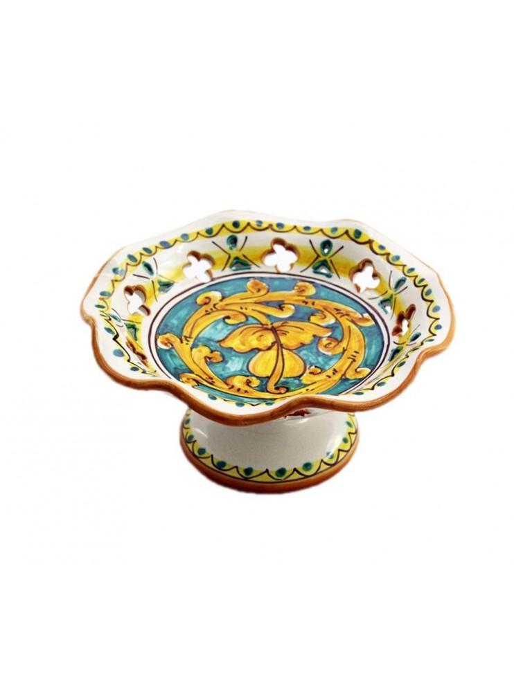 Small ceramic centerpiece in Sicilian ceramic art.5 dec. Gianluca