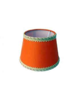 Paralume arancione D.16cm in tessuto