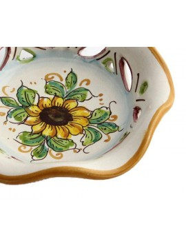 Small Sicilian ceramic bowl art.23 dec. Sunflower