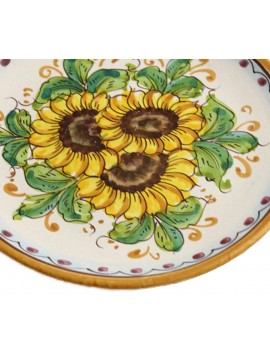 Sicilian ceramic dish art.14 dec. Sunflower