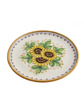 Sicilian ceramic dish art.12 dec. Sunflower