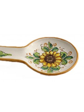 Sicilian ceramic stirrer art.25 dec. Sunflower
