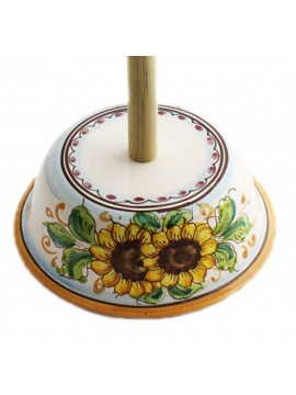 Sicilian ceramic roll holder art.11 dec. Sunflower