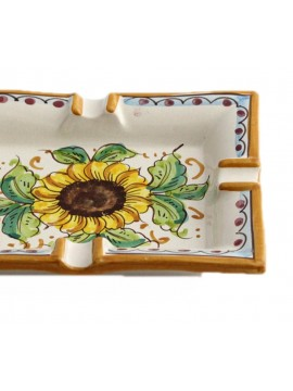 Sicilian ceramic ashtray art.27 dec. Sunflower