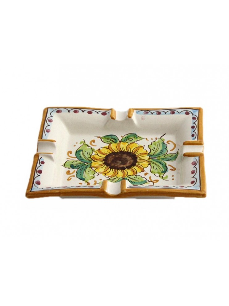 Sicilian ceramic ashtray art.27 dec. Sunflower