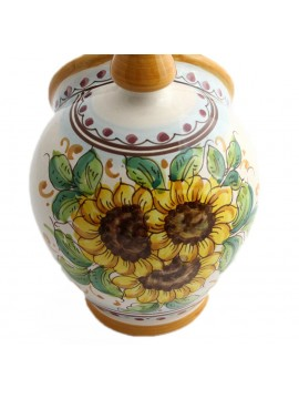 Sicilian ceramic salt cellar art.15 dec. Sunflower