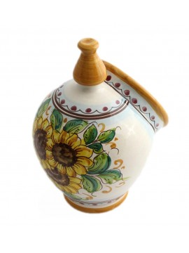 Saliera in ceramica siciliana art.15 dec. Girasole