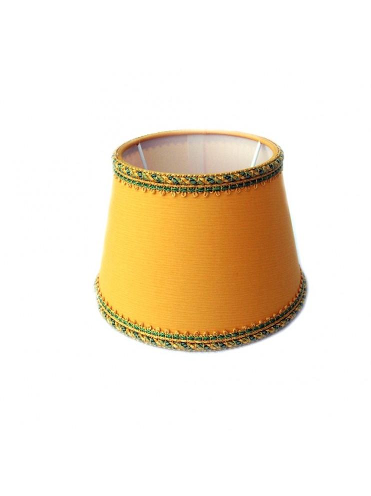 Paralume giallo D.16cm in tessuto