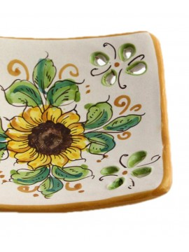 Empty Sicilian ceramic pockets art.21 dec. Sunflower