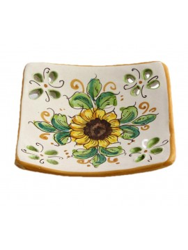 Svuota tasche in ceramica siciliana art.21 dec. Girasole