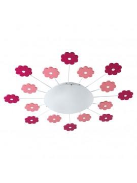 Plafoniera da cameretta moderna rosa 1 luce GLO 92147 Viki 1