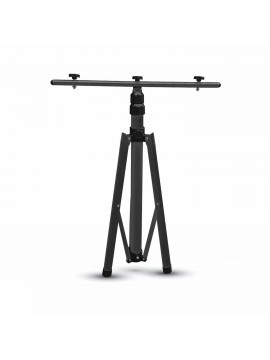 Black tripod tripod 2 adjustable headlights 150cm v-tac