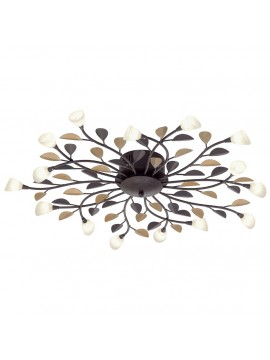 Classic ceiling lamp 15 lights wrought iron GLO 90737 Campania