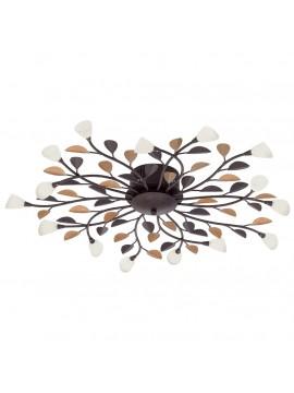 Plafoniera classica 15 luci ferro battuto GLO 90737 Campania