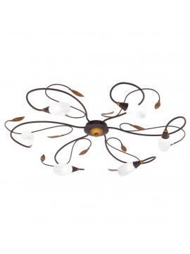 Classic wrought iron ceiling light 6 lights GLO 90697 Gerbera 1