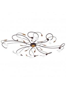 Plafoniera classica in ferro battuto 8 luci GLO 90698 Gerbera 1