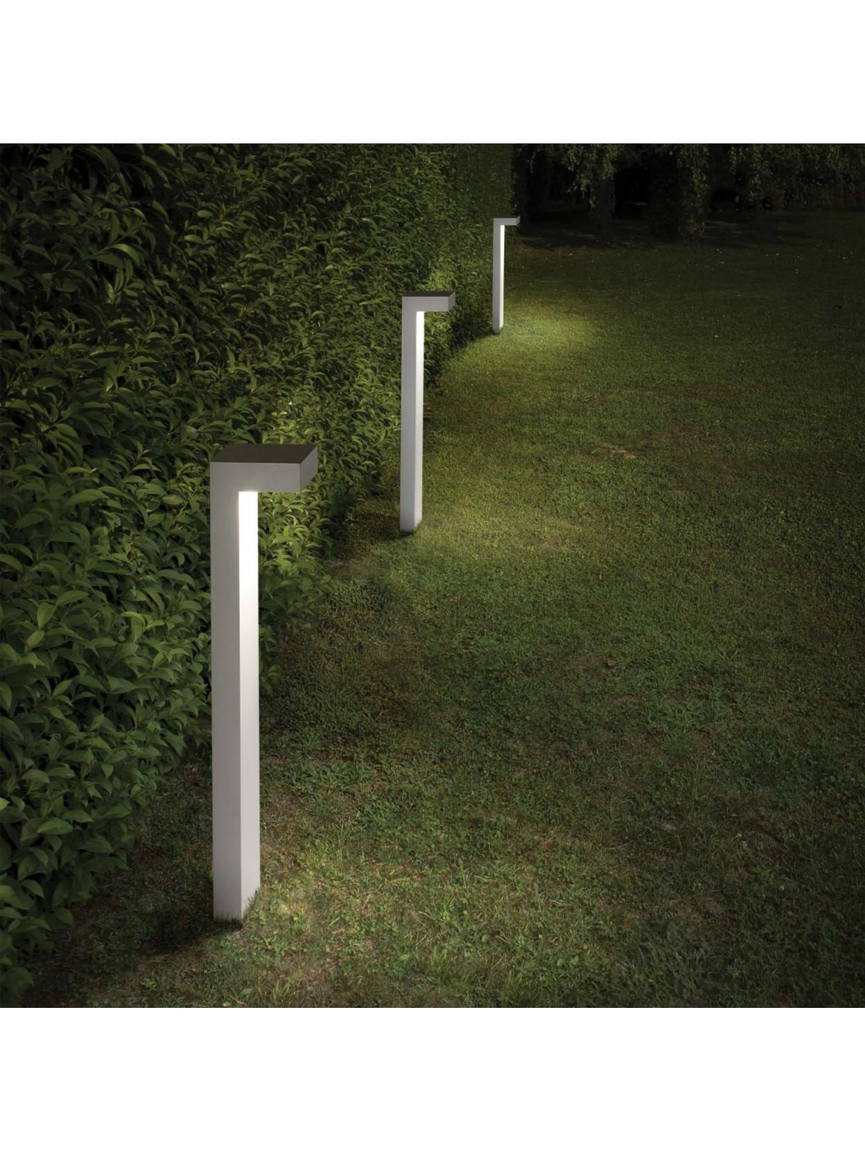 Paletto per esterno moderno 2 luci sirio big bianco for Luci da esterno moderne