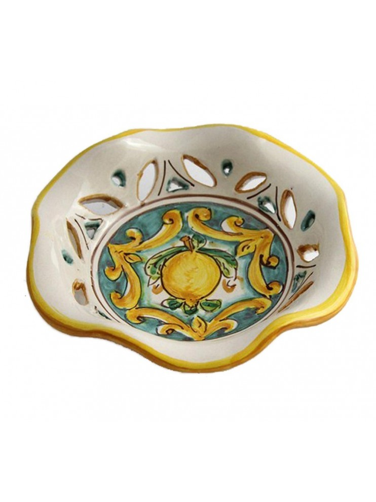 Ciotola piccola in ceramica siciliana art.23 dec. Limoni