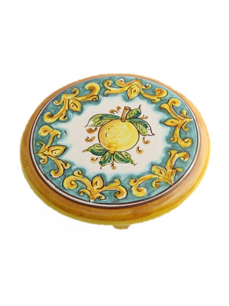 Sicilian ceramic coffee pot holder art.20 dec. lemons