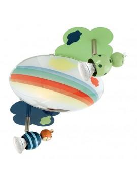 Plafoniera per cameretta a led colorata GLO 93141 Taya 1