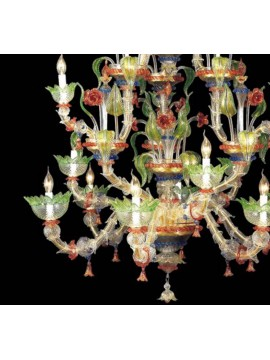 Murano chandelier from Venice 12 lights 7545/6 + 3 + 3