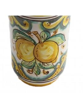 Portabicchieri piccolo in ceramica siciliana art.18 dec. Limoni