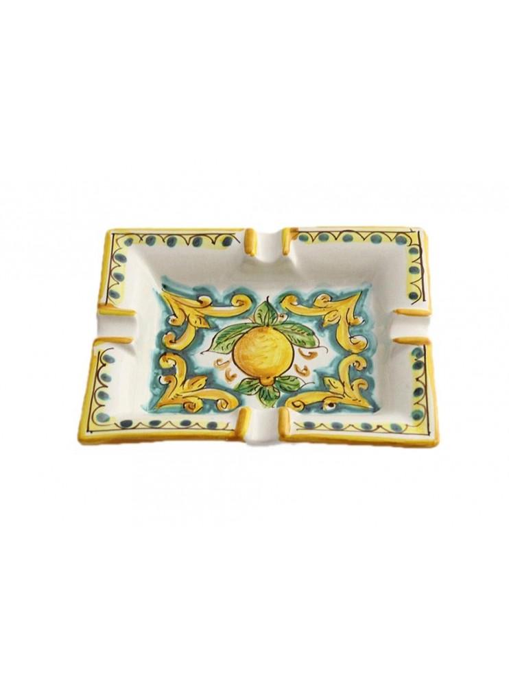 Portacenere in ceramica siciliana art.27 dec. Limoni