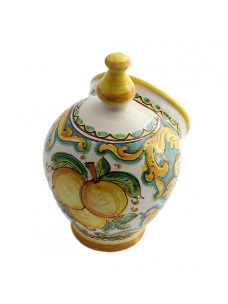 Sicilian ceramic salt cellar art.15 dec. lemons