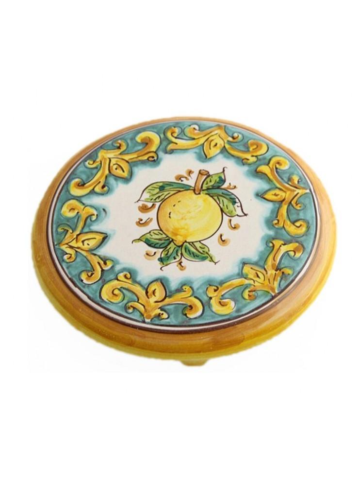 Sicilian ceramic trivet art.19 dec. lemons