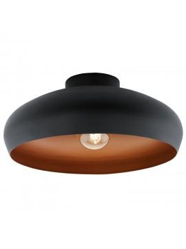 Plafoniera vintage 1 luce nero e rame GLO 94547 Mogano