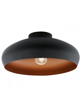 Vintage 1 light black and copper GLO 94547 Mahogany ceiling light