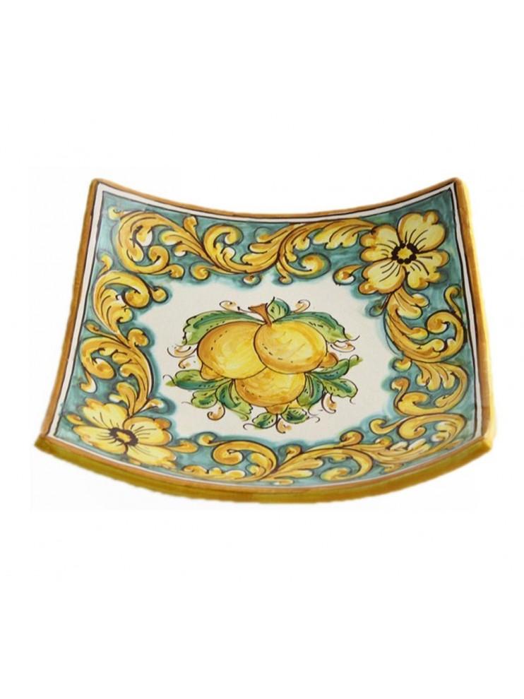 Svuota tasche in ceramica siciliana art.26 dec. Limoni