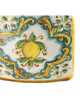 Svuota tasche in ceramica siciliana art.21 dec. Limoni