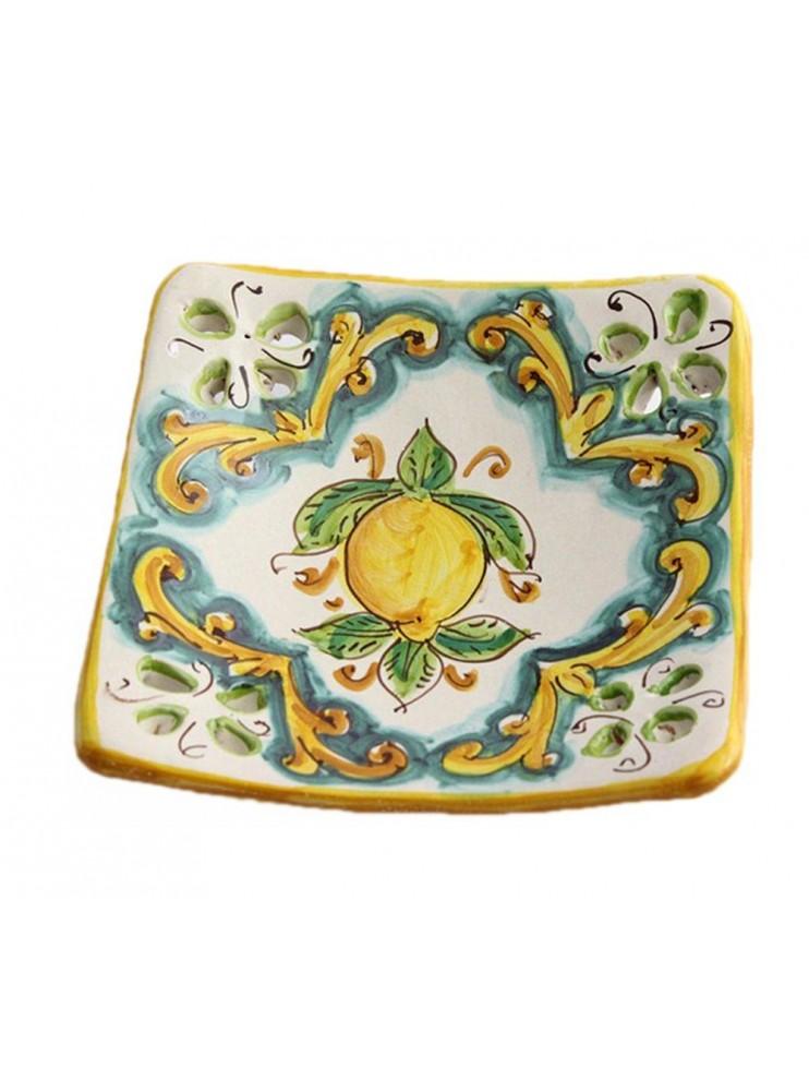 Svuota tasche in ceramica siciliana art.21 dec. Limoni