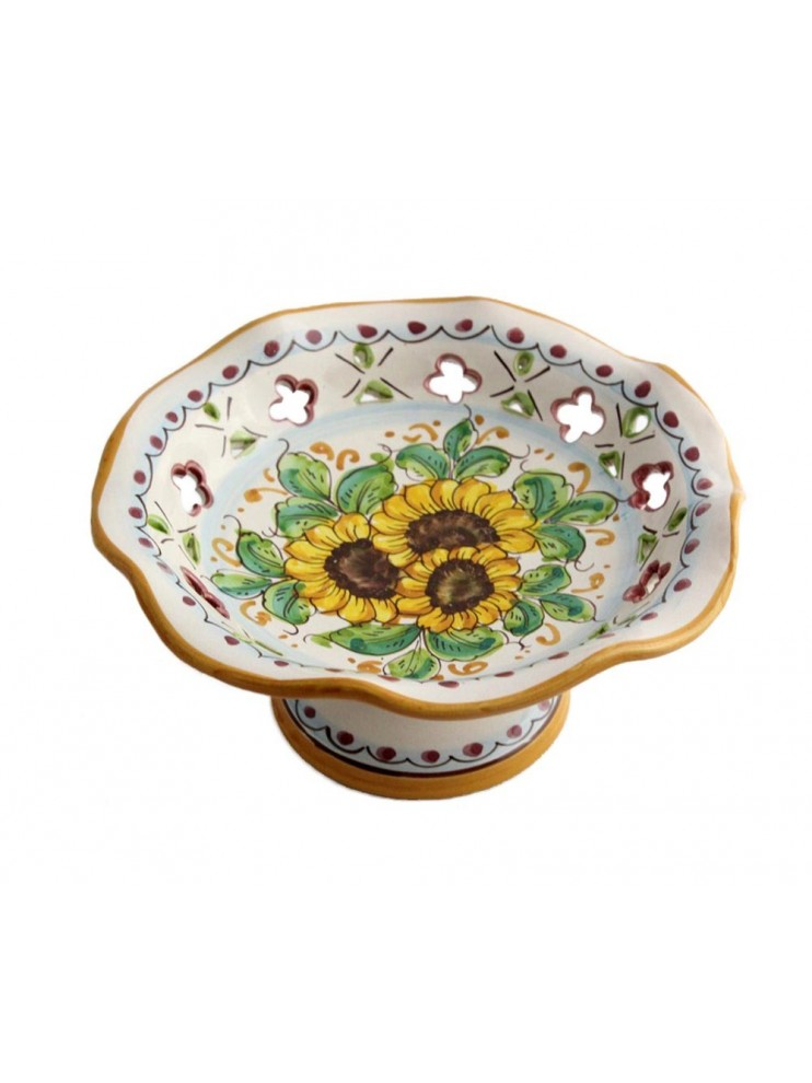 Small ceramic centerpiece in Sicilian ceramic art.5 dec. Sunflower