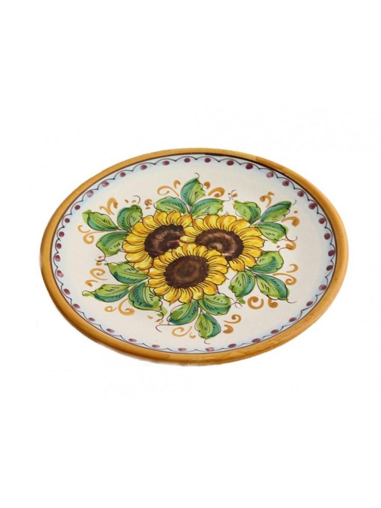 Sicilian ceramic dish art.13 dec. Sunflower
