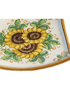 Empty Sicilian ceramic pockets art.26 dec. Sunflower