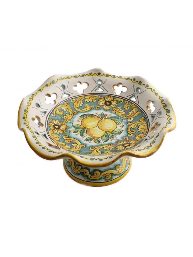 Medium raised centerpiece in Sicilian ceramic art.4 dec Limoni