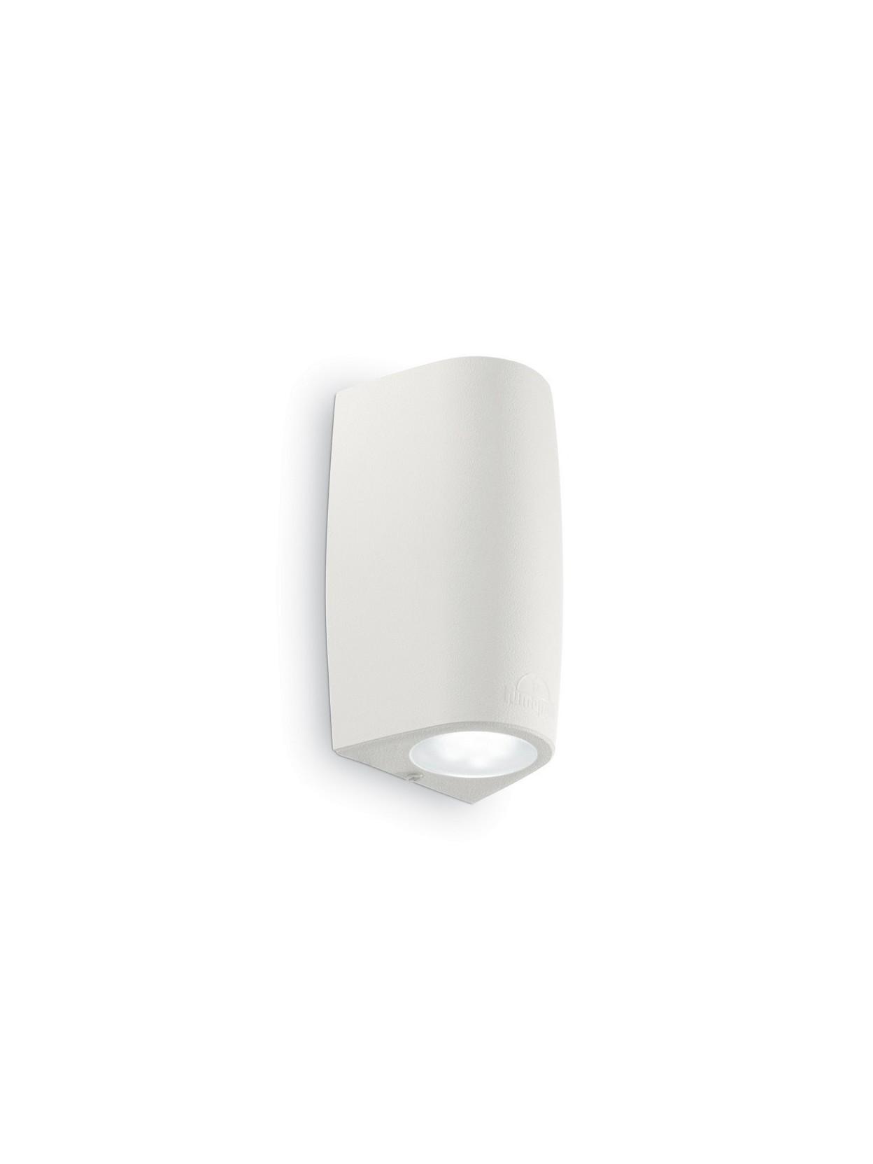 Applique da esterno a led moderno keope ap2 small bianco - Applique led esterno ...