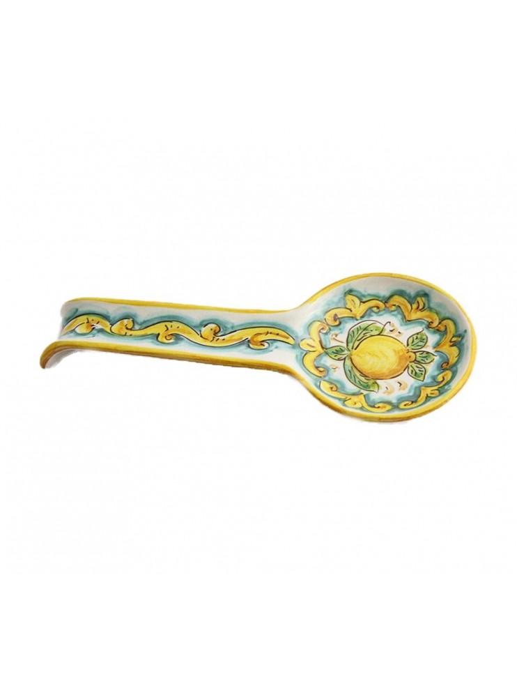 Poggiamestolo in ceramica siciliana art.25 dec. Limoni